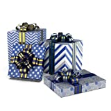 LussoLiv Premium Gift Wrapping Sheets 4 Designs X 5 Sheets (20 Wrapping Sheets) Size 17'x 24' Inches Metallica 2