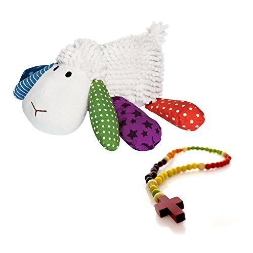 (Lil Prayer Buddy Louie the Lamb 3 Prayers and My First Rosary 2 Pc Set)