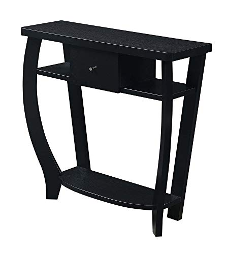 Convenience Concepts Newport Dorchester Console Table, Black