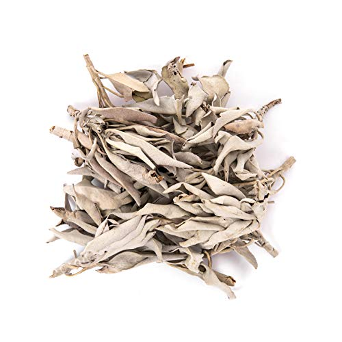 (Juniper Ridge | California White Sage Loose Leaves | Salvia Apiana Clusters | Dry Smudging & Burning Sage | 1 Lb Bag)