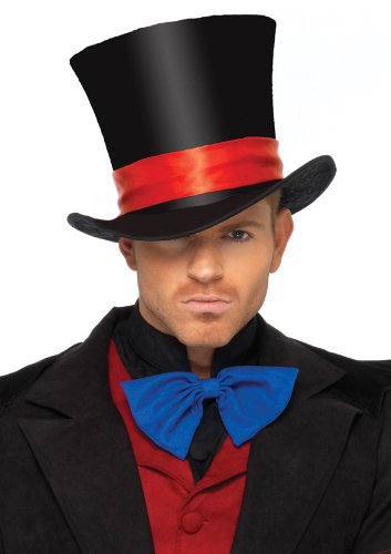 Leg Avenue Deluxe Top Hat, Black, One Size (Velvet Leg Avenue)