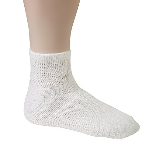 Diabetic-Socks-For-Men-By-Debra-Weitzner-Breathable-Cotton-Loose-Fitting-Design-Comfortable-Physician-Approved-Non-Binding-Top-Ankle-White-Size-1315-Pack-of-12-Pairs