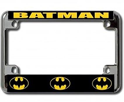 Amazon.com: Batman Chrome Motorcycle License Plate Frame: Automotive