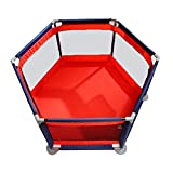 Hulan Baby Fence, Children's guardrail Child Baby Toddler Fence Crawling mat Home Indoor Playground high 65cm (Color : Red+mat)