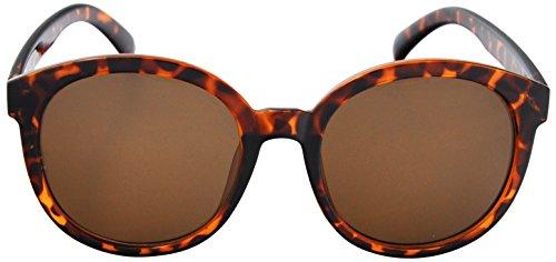 SoMuchSun Round Frame Low Nose Bridge Sunglasses (Lane 1040) (Brown Leopard, - Spektre Sunglasses