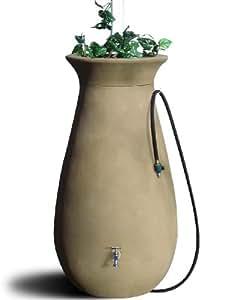 Algreen Productos Barril de Lluvia Cascata 65-Gallon, sándalo