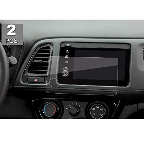 2 PCS Control Screen Protector for 2019 HR-V HRV 7-Inch HD Crystal Clear in-Dash Navigation Touch PET Plastic High Clarity Protective Film
