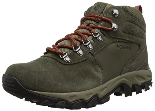 Columbia Men's Newton Ridge Plus II Suede Waterproof Hiking Shoe, peat Moss, Rusty, 11 Regular US