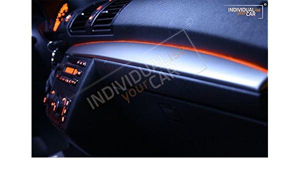 Salpicadero el ambiente Juego Barra de luz ambiente iluminación para 1er E81 E82 E87 E88: Amazon.es: Coche y moto