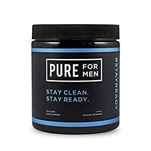 Pure for Men - El suplemento original de fibra de limpieza vegana, sin cápsula (en polvo) - Fórmula patentada comprobada