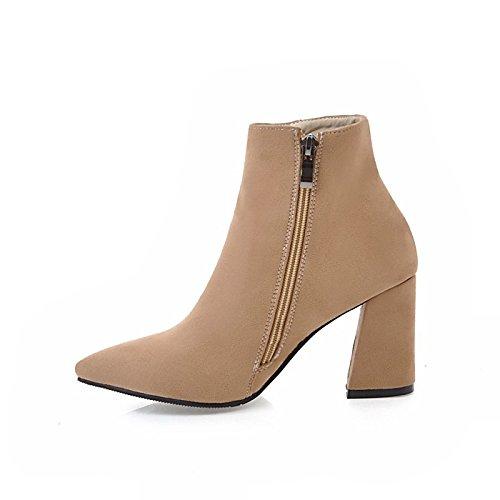 polar por Botines señaló otoño mujer botas Toe noche Null parte botas Stiletto Bota moda talón Zapatos botines invierno Beige de raje de HSXZ wTaYOqn