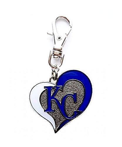 (Heavens Jewelry KC Kansas City Royals Charm Baseball Team Charm ADD to Zipper Pull Small PET Dog CAT Collar Leash Keychain, ETC )