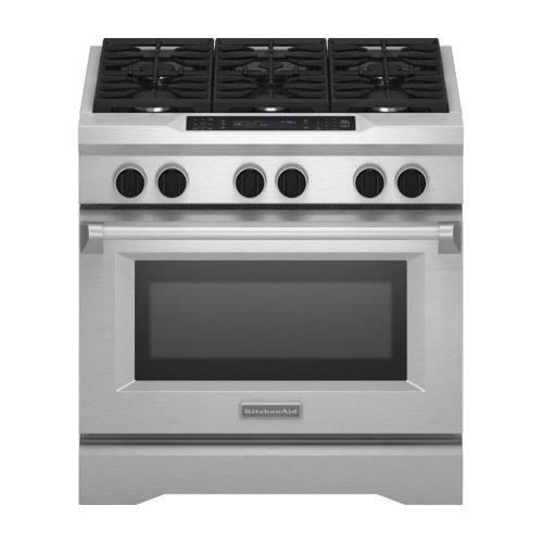 Kitchenaid KDRS467VSS Commercial Style Dual Fuel Range