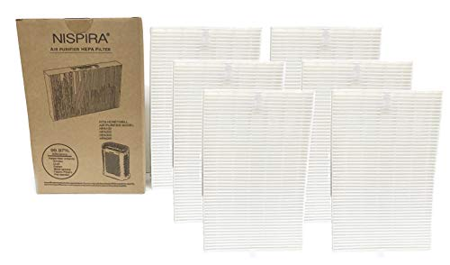 Nispira 6 True HEPA Replacement Filters R for Honeywell Air Purifier Models HPA300, HPA090, HPA100 and HPA200 Compared to HRF-R1 HRF-R2 HRF-R3