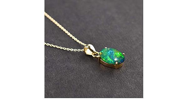 Sterling Silver Assorted  Black Fire Opal Stone Bezel Pendant
