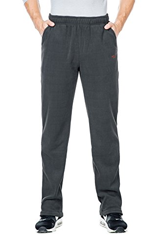 Nonwe Men's Outdoors Open Bottom Fleece Sweatpant Gray1 L 32