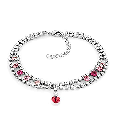 Top Third Time Charm Clear Anklet Bracelet Barefoot Sandal Beach Foot Jewelry hot sale