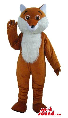 White and ginger Fox SpotSound Mascot US costume wild animal fancy dress - Fox Costume Canada