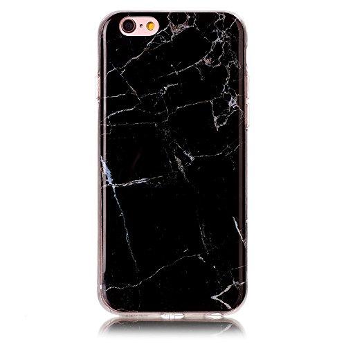 Marble Pattern IMD TPU Phone Tasche Hüllen Schutzhülle - Case für iPhone 6s/6 4.7-inch - schwarz