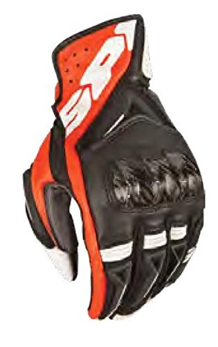 Spidi STR-3 Vent Coupe Men's Leather Sports Bike Racing Motorcycle Gloves - Black/Red / 3X-Large