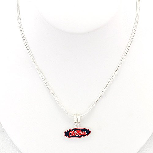 Enamel Collegiate Necklace (Ole Miss Rebels) ()