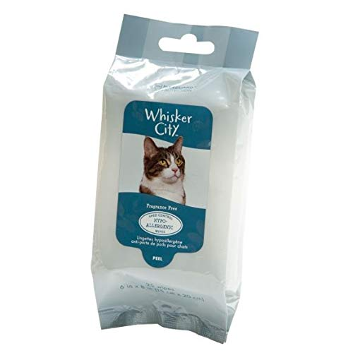 (*Whisker City Hypoallergenic & Shed Control Cat Wipes-25 Count-1 Pack)
