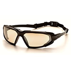 Pyramex Highlander Safety Eyewear, Black Frame/Indoor/Outdoor Mirror Anti-Fog Lens