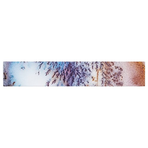 (Kess Original Snow Agate Blue Orange Table Runner)