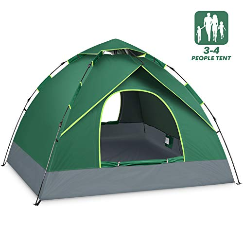 BATTOP 4 Person Tent for Family Camping Instant Pop Up Tents 4 Seasons Waterproof Tent for Outdoor (4 Seasons)