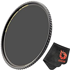 Breakthrough Photography 77mm X4 6-Stop ND Filter For Camera Lenses, Neutral Density Professional Photography Filter With Lens Cloth, MRC16, SCHOTT B270 Glass, Nanotec, Ultra-Slim, Weather-Sealed