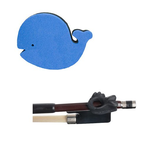 Violin Accessory Pack for Beginners - Includes Children's Whale Shoulder Rest & Holdfish Black Bow Guide