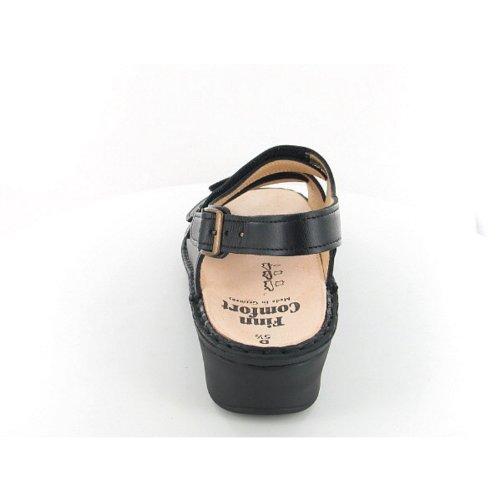 Finn Comfort 2664 Samoa Nappaseda Black Womens Sandals Negro