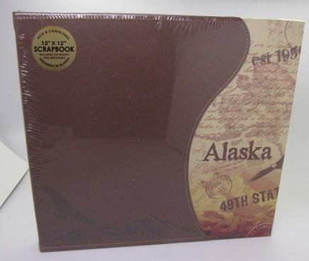 - 12x12 Alaska Travel Photo Scrapbook Leather