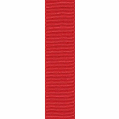 Offray Grosgrain Craft Ribbon, 5/8-Inch x 18-Feet, Red, 5/8 Inch