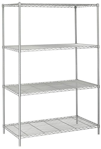 Safco Products 5294GR Industrial Wire Shelving Starter Unit 48