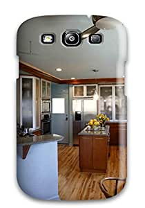 [wMVsnjy3323YxYQk]premium Phone Case For Galaxy S3/ Contemporary Kitchen With Glass And Metal Cabinets Tpu Case Cover