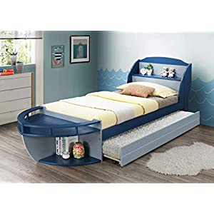 ACME Furniture Neptune II Platform, Gray & Navy 15