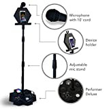 All-In-One Karaoke System & Party Machine - Singsation Performer Speaker w/Bluetooth Microphone Sing Stand – No CDs! – Kids or Adults Can Use YouTube for Favorite Karaoke Videos or Songs
