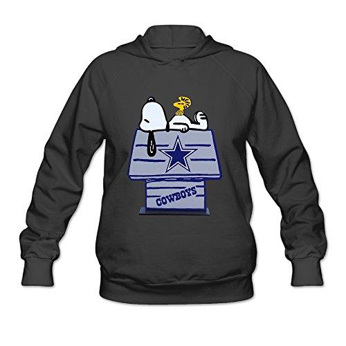 DVPHQ Women's Custom Dallas Star Logo Cowboys Hooded Sweatshirt Size L Black (Dallas Cowboy Toddler Halloween Costume)