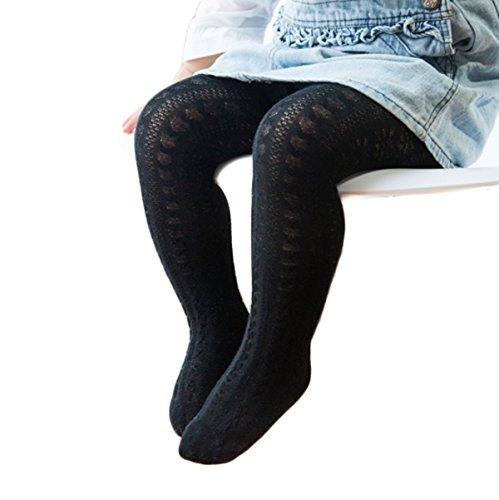 Baby Girls Cotton Warm Long Bow Leg Warmer Tights Pantyhose Hosiery Stockings Socks (12-24Months, Black)