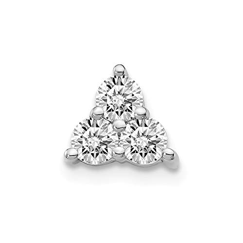 Jewelry Pendants & Charms Slides 14k White Gold Diamond Chain Slide Pendant ()