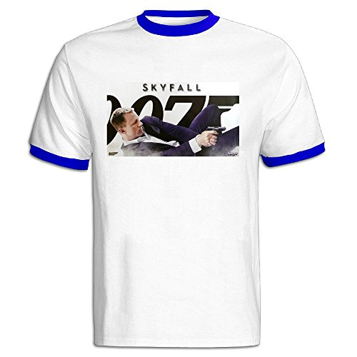 AWSY Men's 007 James Bond Skyfall Baseball T Shirt RoyalBlue ()