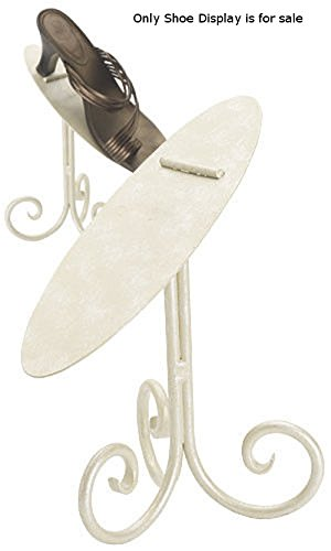 New Retails Creamy Ivory Finished Shoe Display Stand - 8 inches