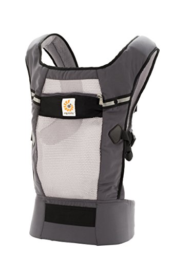 Ergobaby Original Cool Air Mesh Performance Ergonomic Multi-Position Baby Carrier with X-Large Storage Pocket, Graphite by Ergobaby