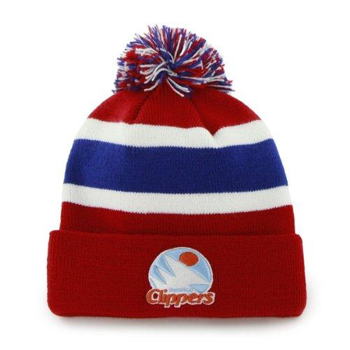 '47 San Diego Braves Vintage Los Angeles Clippers Breakaway Pom Beanie Cap - NBA LA Cuffed Knit Toque Hat ()