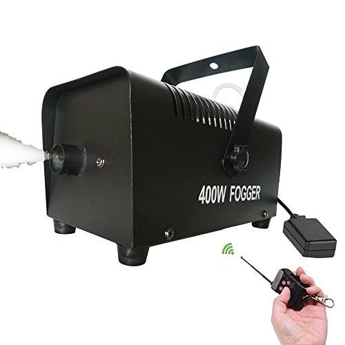 [Stage Effect Fog Machine 400 Watt Fog Chiller With Wireless Remote Mini Portable Smoke machine Systems for KTV, Bar ,Club, Party, Wedding fog] (Party Fog Machine)