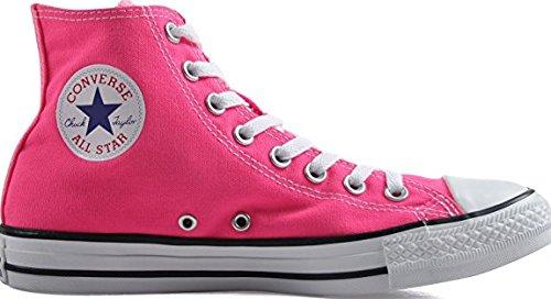 Converse Unisex Chuck Taylor All-star Sneakers Alte, Colori Classici In Suola In Gomma Vulcanizzata Qualità Rosa Pow