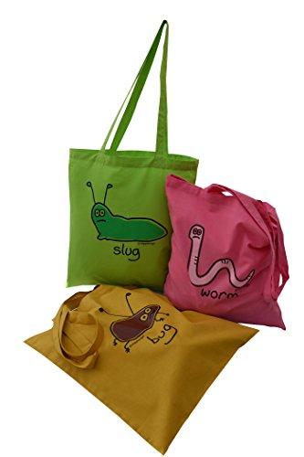 Got ' tote amp; the 3pk bags Slug Worm Bug shopping Bug Sra4znSq