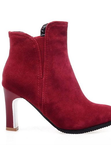 Eu41 Moda Tacón 10 5 Uk8 Vestido A 5 Uk7 Eu42 Beige La 5 Negro 5 Ante us10 Stiletto Rojo Xzz Cn43 Sintético 8 Puntiagudos Zapatos Mujer Botas Cn42 us9 Red Red De tRqUwvpFz