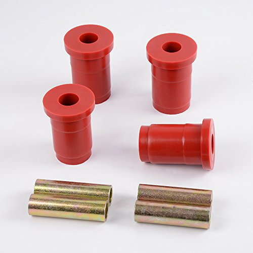 Front Control Arm Bushing Kit Duty Suspension For 79-93 Ford Mustang 6-205 (Red) (Duty Bushing)